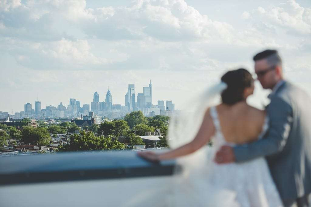 view of philly skyline from FAME